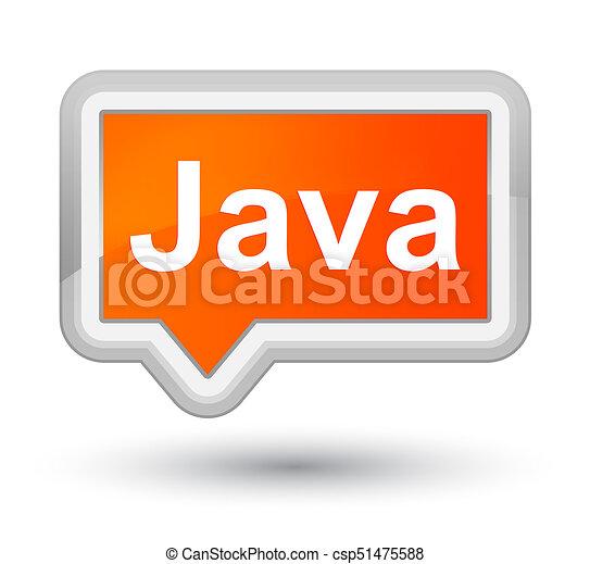 Java prime orange banner button - csp51475588