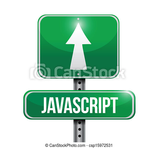 javascript road sign illustration - csp15972531