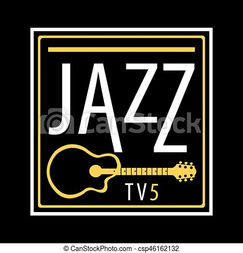 jazz channel musical poster ot icon vector template jazz channel