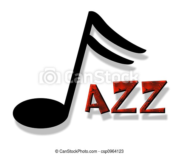 an illustration of the word jazz rh canstockphoto com clipart jazz music jazz trio clipart