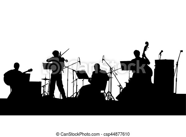 jazz musical band concert of jazz music on white background rh canstockphoto com rock band clipart free music band clipart free