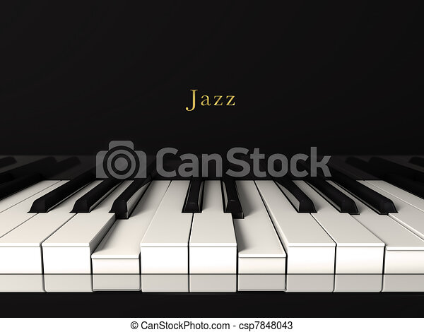 Jazz piano. - csp7848043