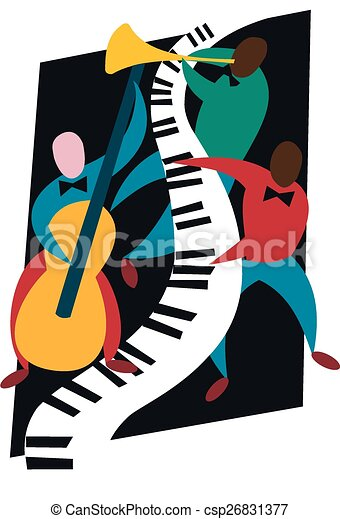 Jazz Trio A Colourful Combination Of Pianist Bassist And