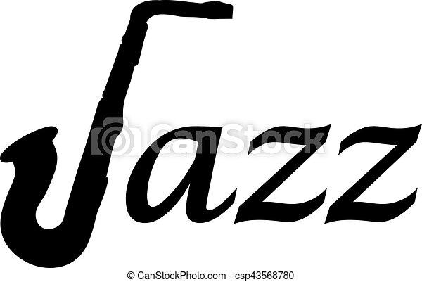 jazz word with saxophone vector search clip art illustration rh canstockphoto com jazz clip art free jazz clipart free