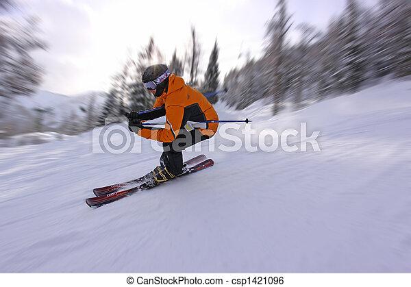 jeûne, ski - csp1421096