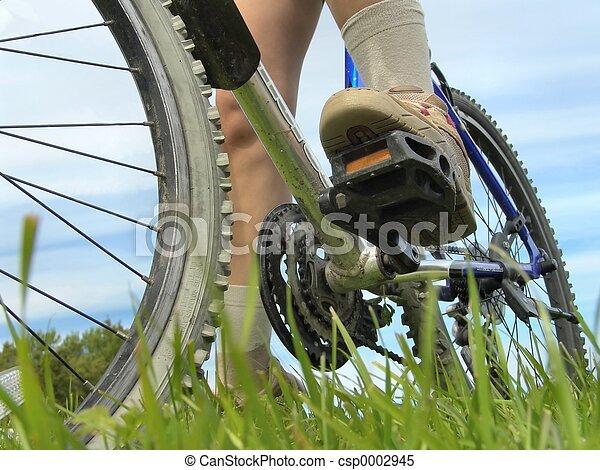 jeżdżenie na rowerze - csp0002945
