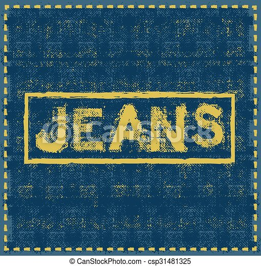 jeans grunge background vector design template