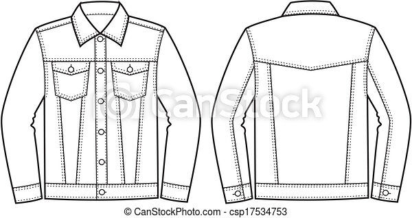 Jean Jacket Vector Illustration Of Jean Jacket Clothes In Denim Style
