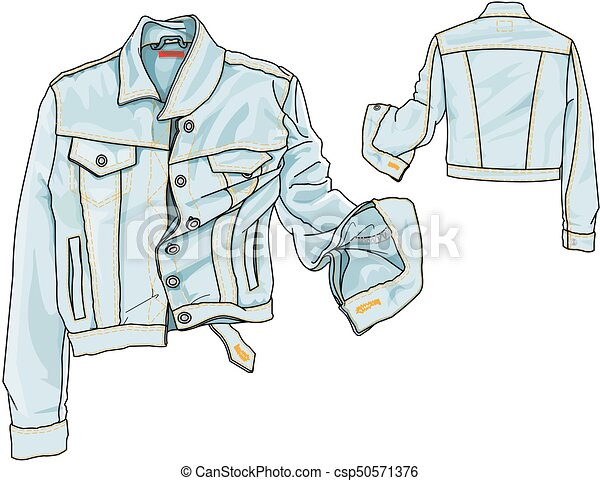 Jeans Jacket Fashion Plate