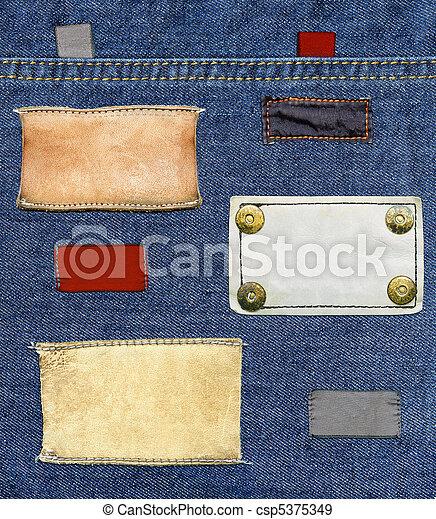 Jeans' labels set  - csp5375349