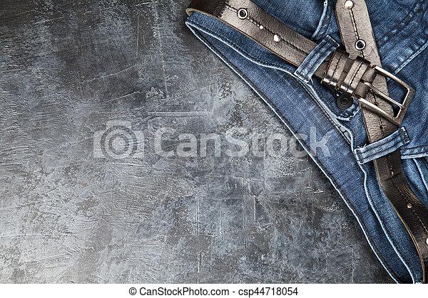 Jeans on dark background - csp44718054
