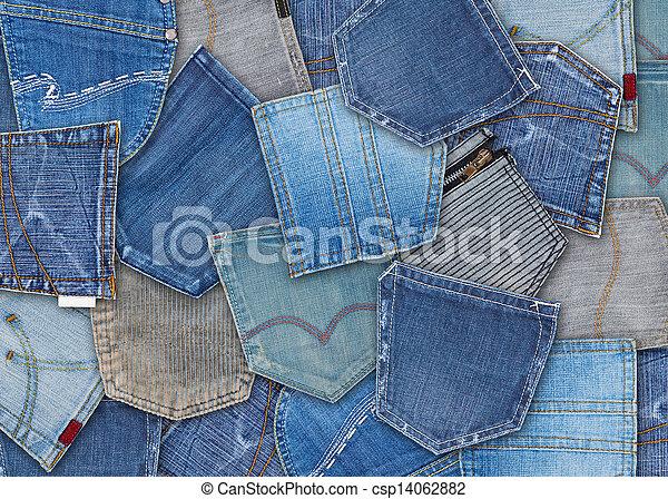 jeans pocket  - csp14062882