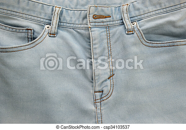 Jeans with pockets close-up for background - csp34103537