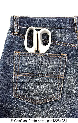 Jeans with scissors - csp12261981