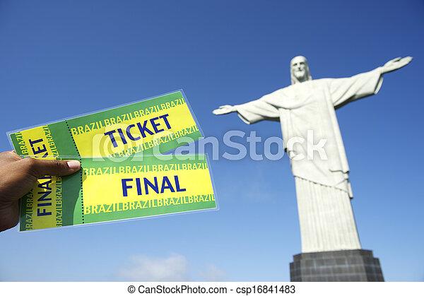 jelöltnévsor, világ, futball, csésze, corcovado - csp16841483