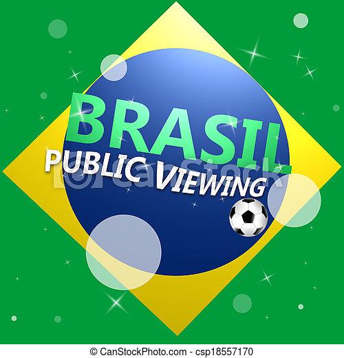 jel, csésze, brasil, világ - csp18557170