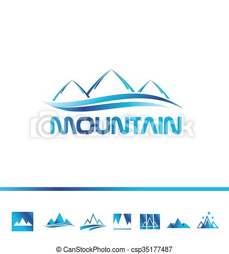 jel, hegy, idegenforgalom, ikon - csp35177487