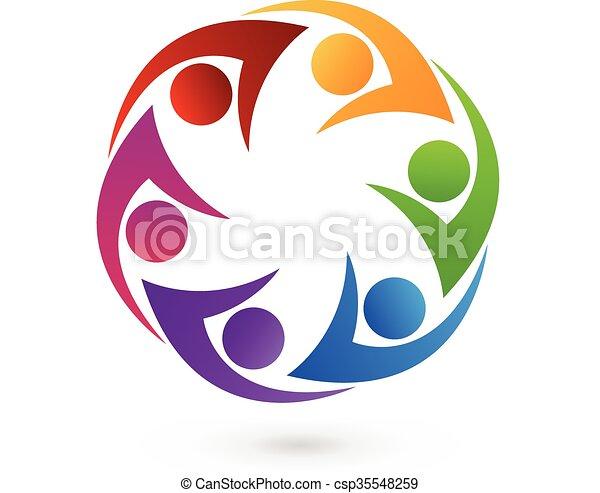 jel, swooshes, ikon, emberek - csp35548259