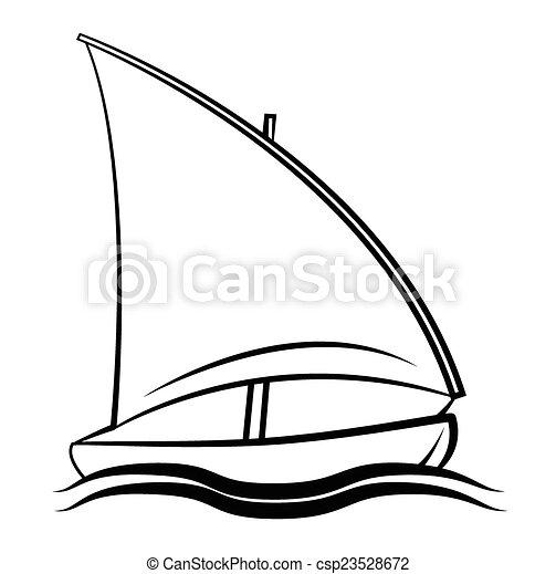 jelkép, csónakázik - csp23528672