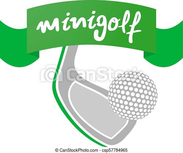 jelkép, minigolf, szalag - csp57784965