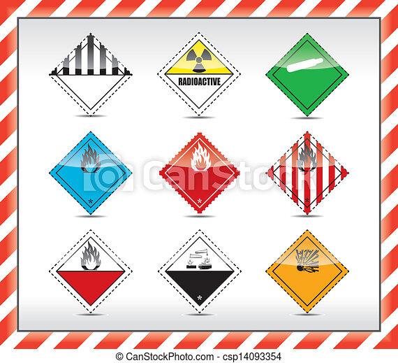 jelkép, veszély cégtábla - csp14093354