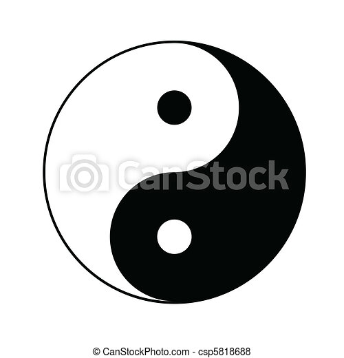 jelkép, yin yang - csp5818688