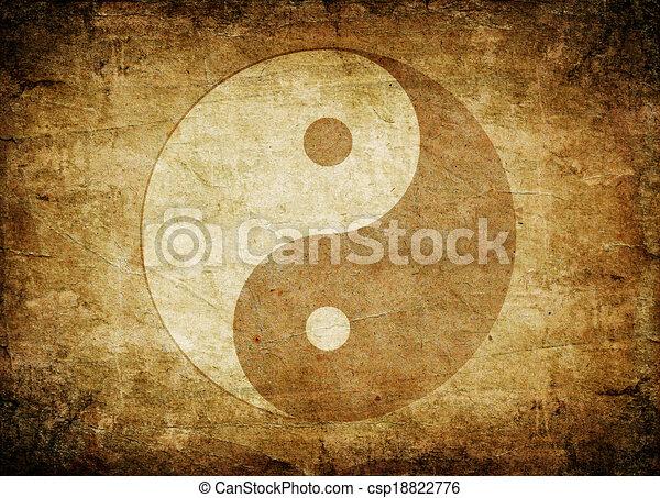 jelkép, yin yang - csp18822776