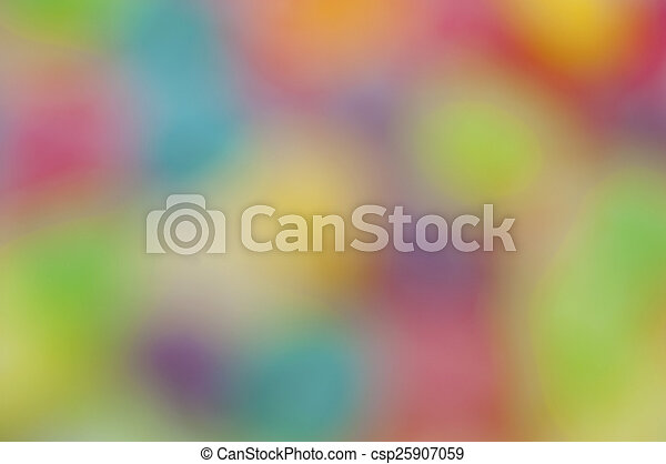 Jelly fruits on abstract background blur - csp25907059