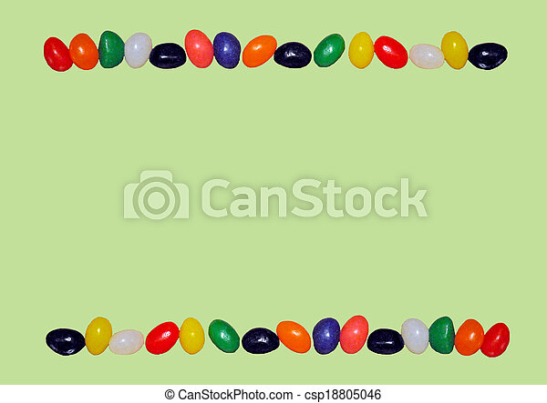 Jellybean border - csp18805046