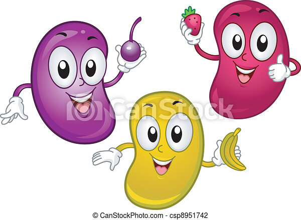 illustration of jellybean mascots holding tiny fruits rh canstockphoto com jelly bean clip art black and white jelly bean clip art free download
