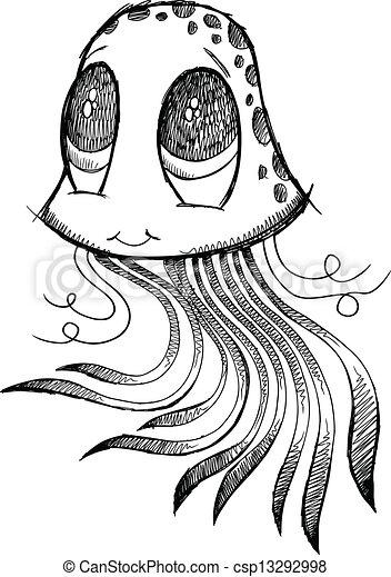 jellyfish sketch doodle vector art