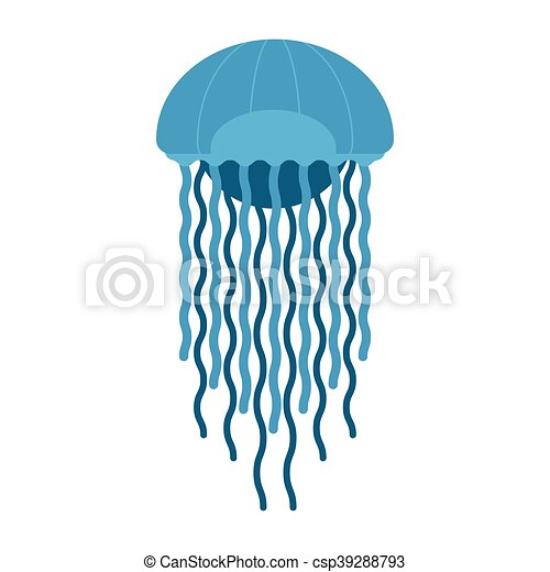 jellyfish vector icon tropic jellyfish illustration vector eps rh canstockphoto com jellyfish vectorial jellyfish vector free