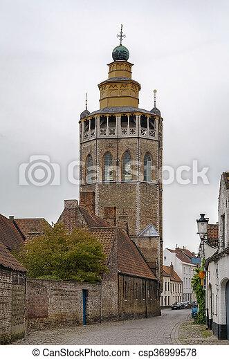 Jerusalem Church (Jeruzalemkerk), Bruges, Belgium - csp36999578