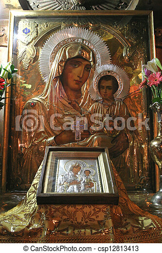Jerusalem-Church of the Tomb of the Virgin Mary - csp12813413