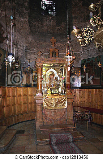 Jerusalem-Church of the Tomb of the Virgin Mary - csp12813456