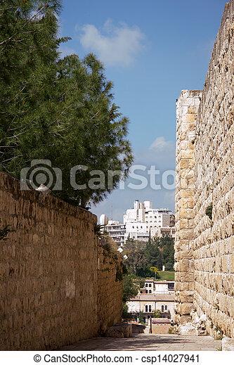 Jerusalem, inside the Old City - csp14027941