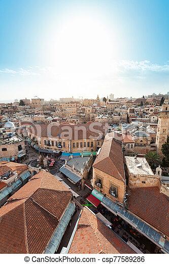 Jerusalem Old City, Christian Quarter, Israel - csp77589286
