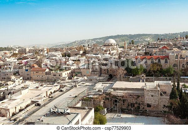 Jerusalem Old City, Christian Quarter, Israel - csp77529903
