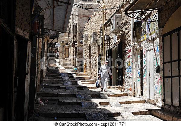 Jerusalem Old City Market - csp12811771
