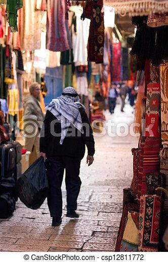 Jerusalem Old City Market - csp12811772