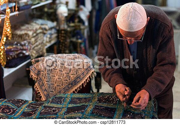 Jerusalem Old City Market - csp12811773