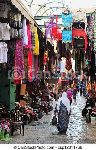 Jerusalem Old City Market - csp12811766