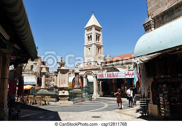 Jerusalem Old City Market - csp12811768