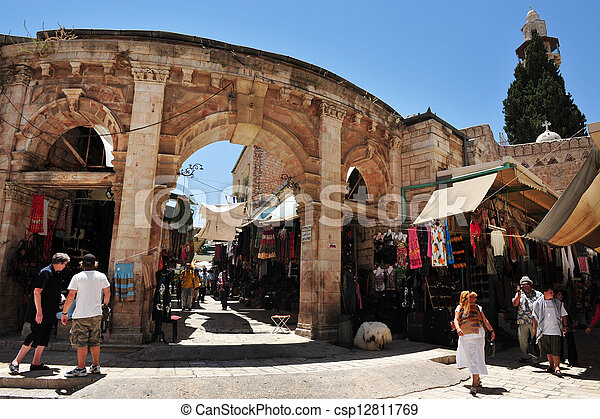 Jerusalem Old City Market - csp12811769