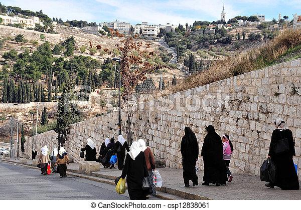 Jerusalem Old City  - csp12838061
