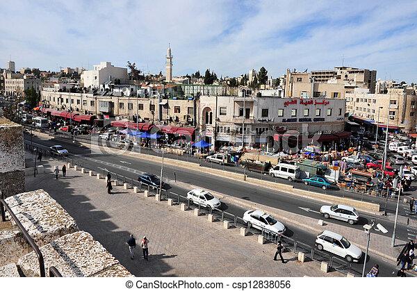 Jerusalem Old City  - csp12838056