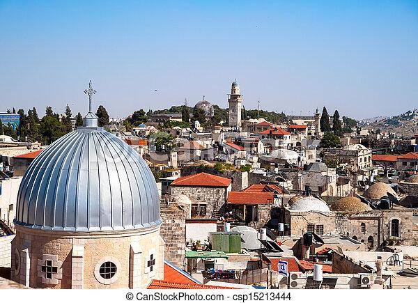 Jerusalem Old City - csp15213444