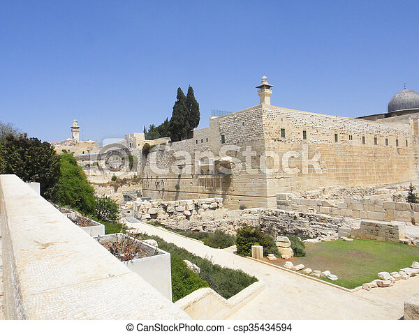 Jerusalem old city - csp35434594