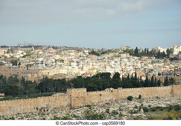 Jerusalem Old City - csp3569180
