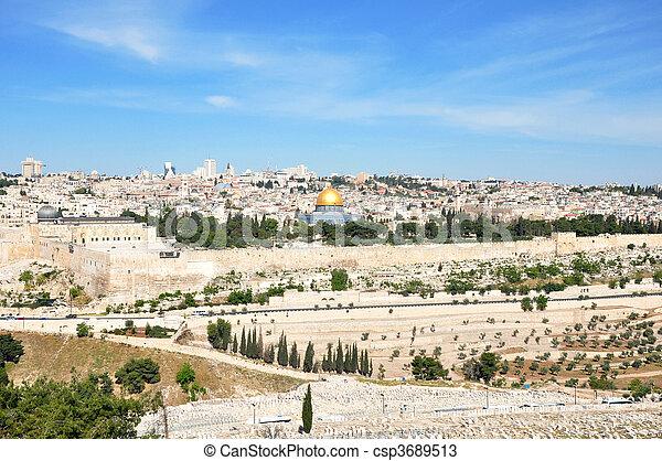 Jerusalem Old City - csp3689513